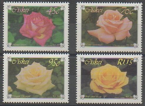Timbres de Ciskei représentant des roses émis en 1994