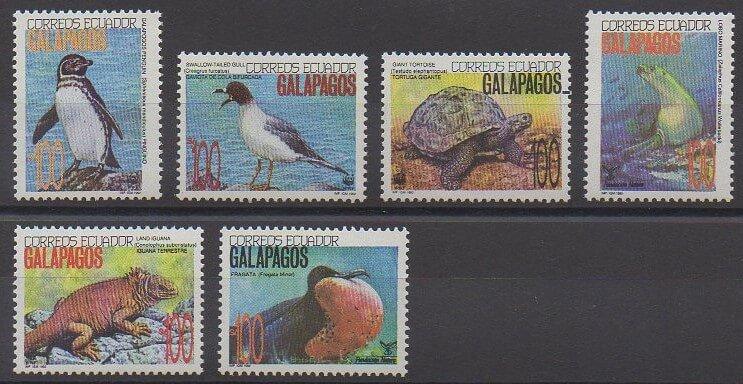 Timbres émis par l'Equateur en 1992