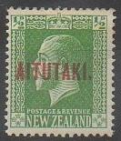 """Timbre néozélandais surchargé """"Aitutaki"""""""