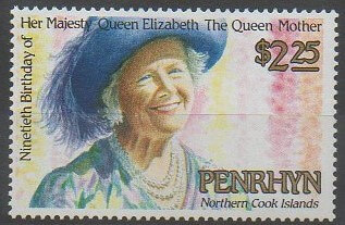 Timnre de Penrhyn sur la reine-mère Elizabeth d'Angleterre