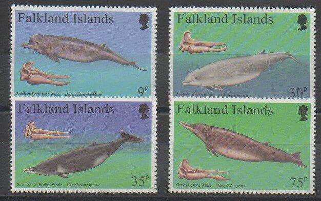 Timbres de collection des Falkland de 1996 sur des poissons