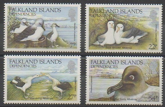 Timbres de collection de Falkland-Géorgie du Sud de 1985