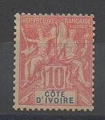 Timbres de Côte d'Ivoire de 1900 N°14