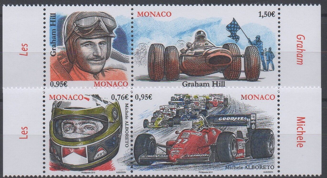 Timbres de Monaco de l'année 2015 sur le grand prix de F1