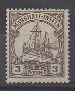 Timbres des îles Marshall de 1900 - Série Yatch impérial