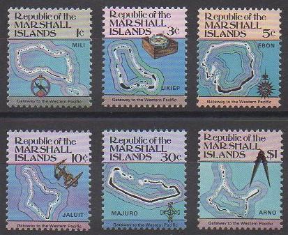 Série de timbres des îles Marshall de 1984