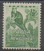 Premier timbre de Papouasie-Nouvelle-Guinée de 1952