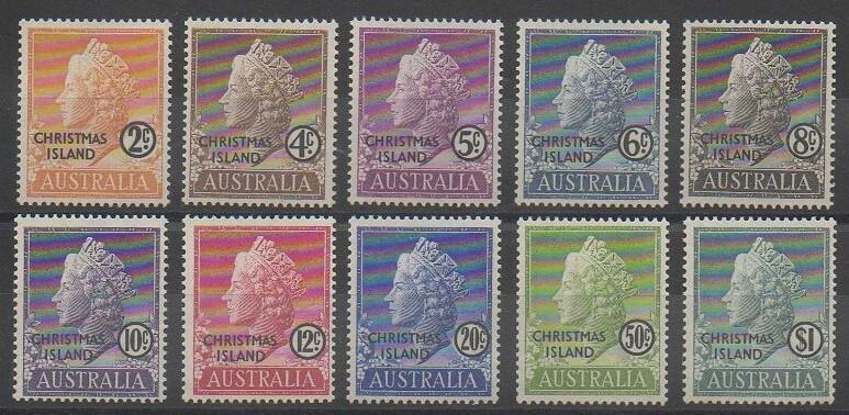 Timbres surchargés des îles Christmas