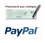 Paiement par chèque ou paypal