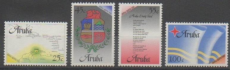 Premiers timbres d'Aruba de 2006