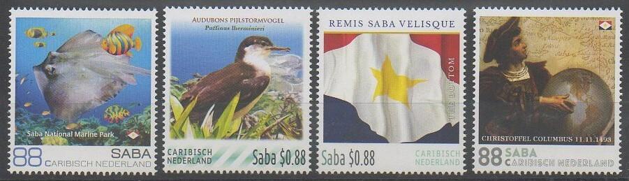 Timbres des îles Saba de 2016