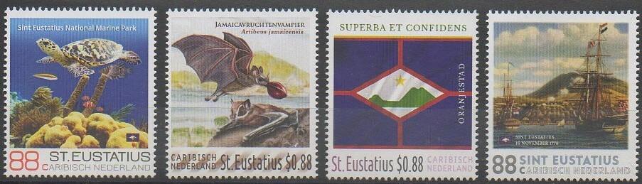 Timbres de l'île Saint-Eustache de 2016