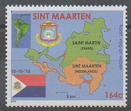 1er timbre émis par Saint-Martin