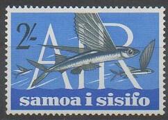 Timbre de poste aérienne des îles Samoa (Samoa i sisifo) émis en 1965
