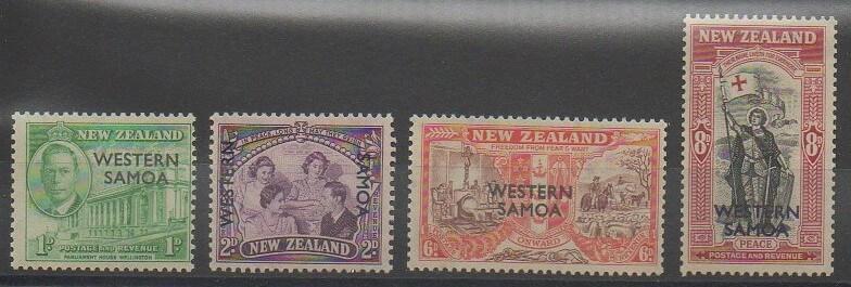 Timbres des îles Samoa surchargés de 1946