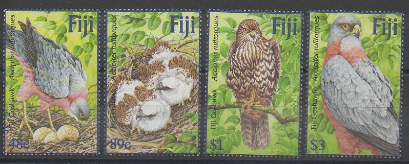 Timbres des îles Fidji sur des rapaces diurnes - 2002 - No 969/972
