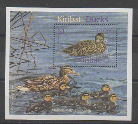 Timbres sur les oiseaux(palmipedes) de Kiribati de 1999