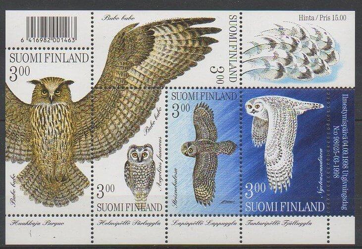 Timbre sur les oiseaux (rapaces nocturnes) de Finlande de 1998