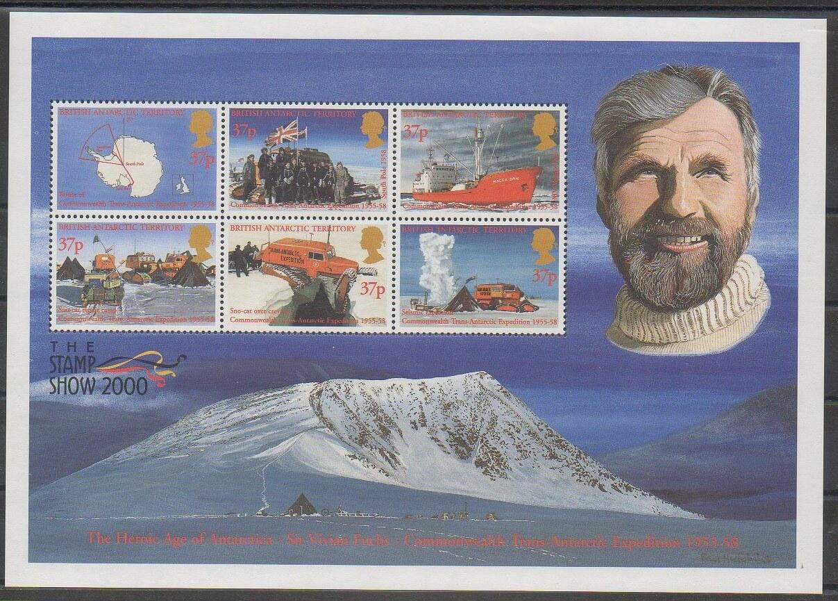 Timbre Antarctique britannique polaire expédition