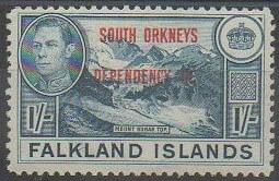 Timbre Antarctique britannique Orcades su Sud