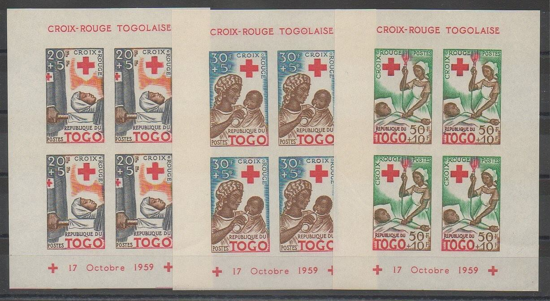 Blof-feuillet non dentelé du Togo de 1959