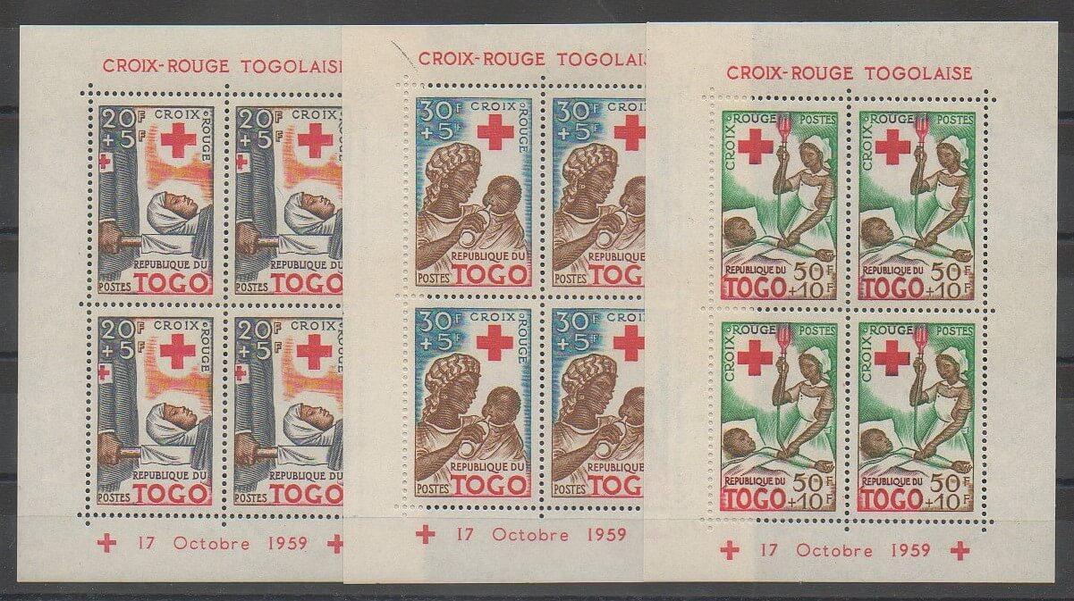 Timbres du Togo de 1959 BF2 et BF4