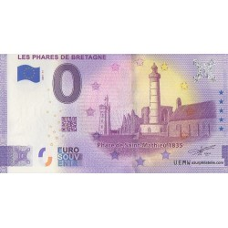 Euro banknote memory - 29 - Les phares de Bretagne - Saint Mathieu - 2021-11