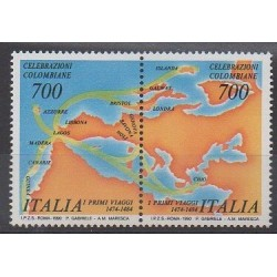 Italy - 1990 - Nb 1835/1836 - Christophe Colomb