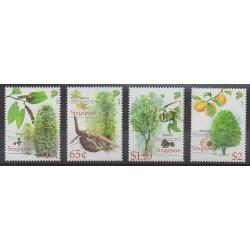 Singapour - 2008 - No 1674/1677 - Fruits ou légumes - Arbres