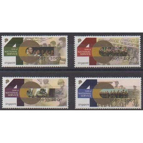 Singapour - 2007 - No 1553/1556 - Histoire militaire