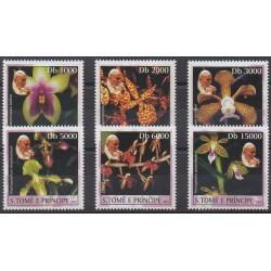 Saint-Thomas et Prince - 2003 - No 1470/1475 - Orchidées - Papauté
