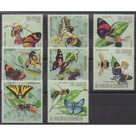 Saint-Thomas et Prince - 2006 - No 2038/2041 - Insectes