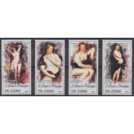 Saint-Thomas et Prince - 2013 - No 4252/4255 - Peinture