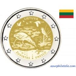 2 euro commémorative - Lituanie - 2021 - Réserve de biosphère de Zuvintas - UNC