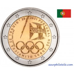 2 euro commémorative - Portugal - 2021 - Portuguese Team participating in the Olympic Games — Tokyo 2021 - UNC
