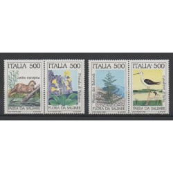 Italie - 1985- No 1658/1661 - Flore