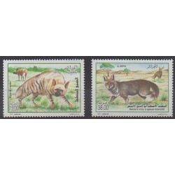 Algérie - 2007 - No 1477/1478 - Mammifères - Espèces menacées - WWF
