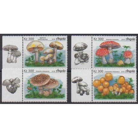 Angola - 2018 - No 1740/1743 - Champignons