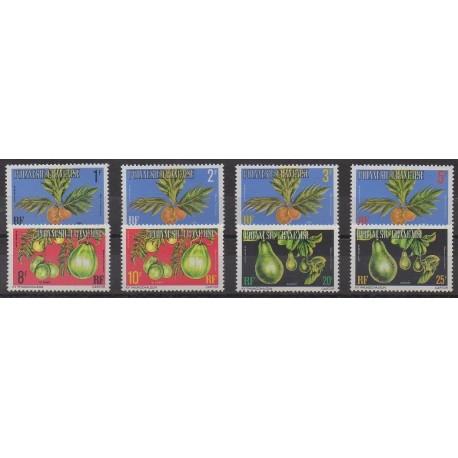 Polynésie - Timbres de service - 1977 - No S1c/S11c - Fruits ou légumes