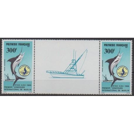 Polynésie - Poste aérienne - 1986 - No PA190A - Vie marine