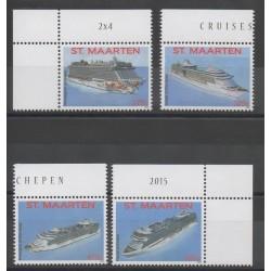 Saint Martin - 2015- No 309/312 - Bateaux