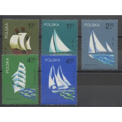 Poland - 1974- Nb 2157/2161 - Boats