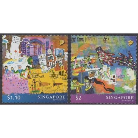 Singapour - 2011 - No 1808/1809 - Dessins d'enfants