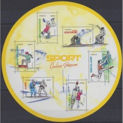 France - Blocks and sheets - 2021 - Nb BF Couleur Passion - Various sports
