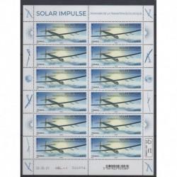 France - Feuillets de France - 2021 - No F29 - Solar Impulse - Aviation - Environnement