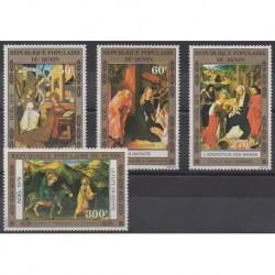 Bénin - 1976 - No PA263/PA266 - Peinture - Noël