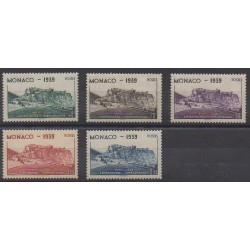 Monaco - 1939 - No 195/199 - Sports divers - Neufs avec charnière