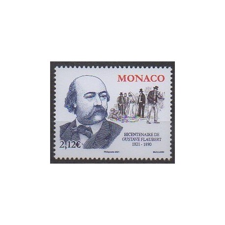 Monaco - 2021 - Gustave Flaubert - Littérature