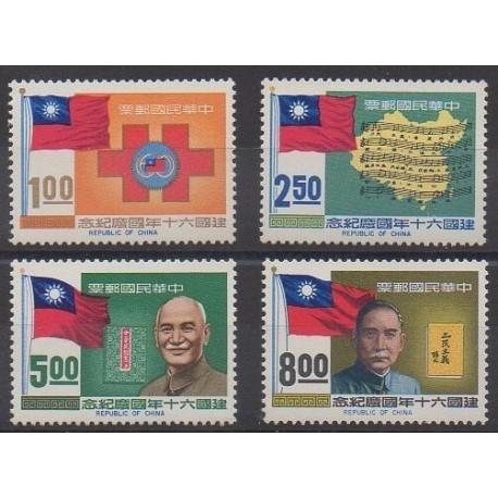 Formose (Taïwan) - 1971 - No 784/787 - Histoire