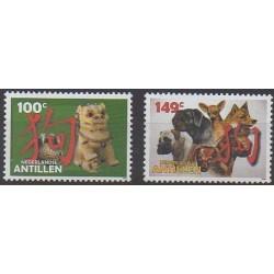 Antilles néerlandaises - 2006 - No 1575/1576 - Chiens - Horoscope